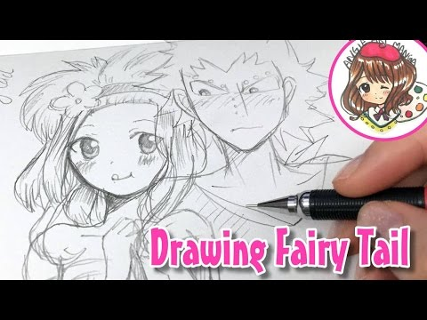 Drawing Fairy Tail 3 - levy & Gajeel (how to draw anime)