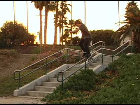SKATEBOARDING - BEN HATCHELL - FEEBLE DOUBLE SET KINK RAIL