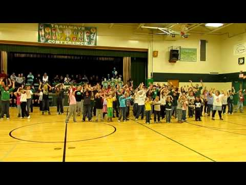 Green Lake High School Flash Mob - Packer Groove Feb 21 2012