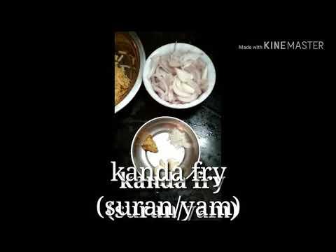 Kanda fry (Sudan/yam).           (Method of pi chudali anukunte description box check cheyandi)