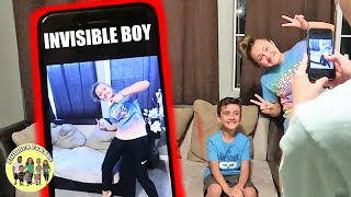 FAMILY PRANKS BROTHER INTO THINKING HE IS INVISIBLE | INVISIBLE PRANK ON KID BROTHER | Magic Trick