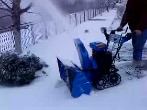 Yamaha Snowblower YS 828 - YouTube