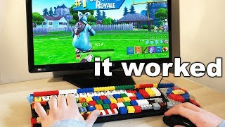 I Built A Keyboard Using LEGO and WON - Fortnite