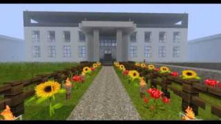 Minecraft the white house castle 04 25