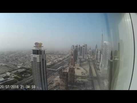 Dubai Sun and Night