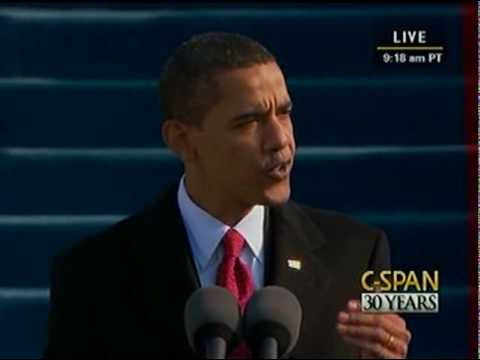 President Barack Obama 2009 Inauguration and Address Video