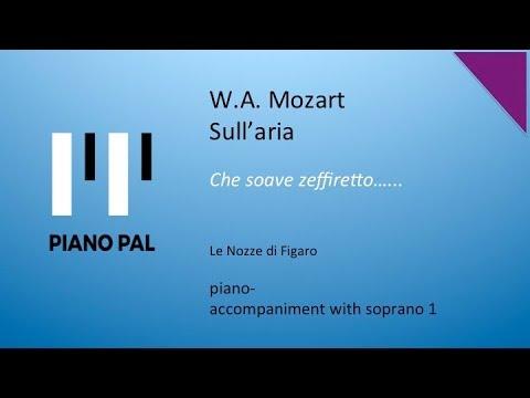 Sull'Aria Mozart Accompaniment with Soprano 1