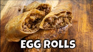 Egg Rolls on the Blackstone Griddle
