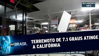 Segundo grande terremoto abala a Califórnia em menos de 48 horas | SBT Brasil (06/07/19)
