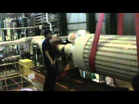 Lifting of Generator rotor - Alstom - Lahendong Geothermal Power Plant