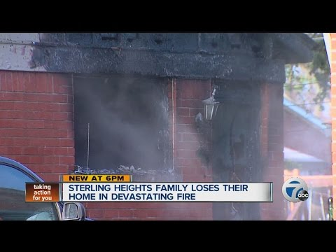 Sterling Heights family loses home in fire