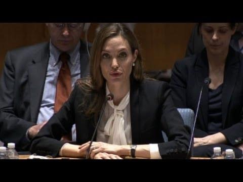 Jolie urges UN Security Council to act on war rapes