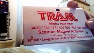 Tram 1094 Scanner Antenna BNC Magnetic Mount quick overview