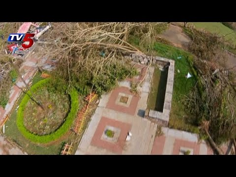 TV5 Aerial View on Cyclone Effected Areas in Vizag : TV5 News