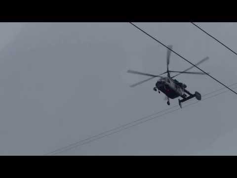 Вертолёт над Москвой.