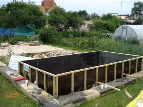 Fiberglass swim pool building in latvia youtube for Build your pool