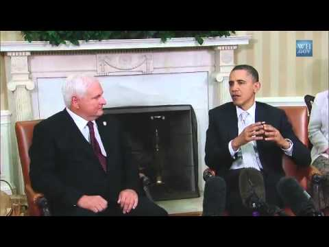 President Obama and Panamanian President Ricardo Martinelli