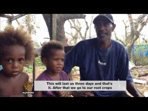 Thousands left homeless after massive cyclone hits Vanuatu