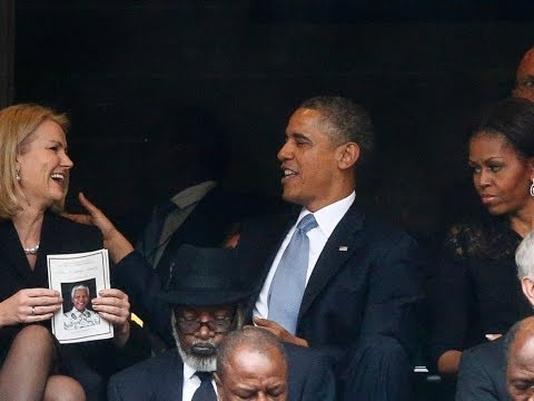 Obama Selfie At Mandela Memorial Annoys First Lady