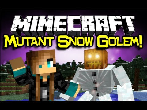 Minecraft: MUTANT SNOW GOLEM MOD Spotlight - Part Of Mutant Creatures w/ Mutant