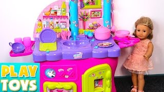 MINNIE MOUSE Kitchen Toy Set with Bowtastic Kitchen Accessory Set !