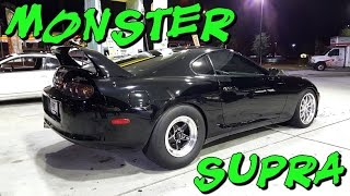 900hp Toyota Supra vs Boosted Coyote Mustangs & ZX-12R