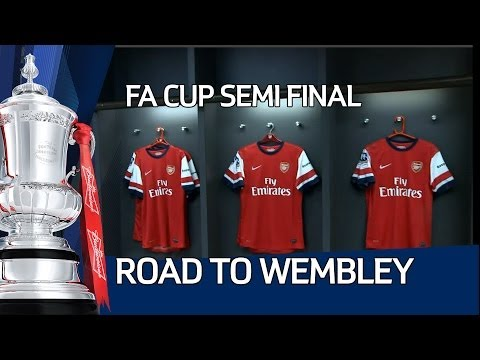 Road To Wembley: Exclusive Access Of Arsenal Vs Wigan Athletic Semi Final At Wembley video