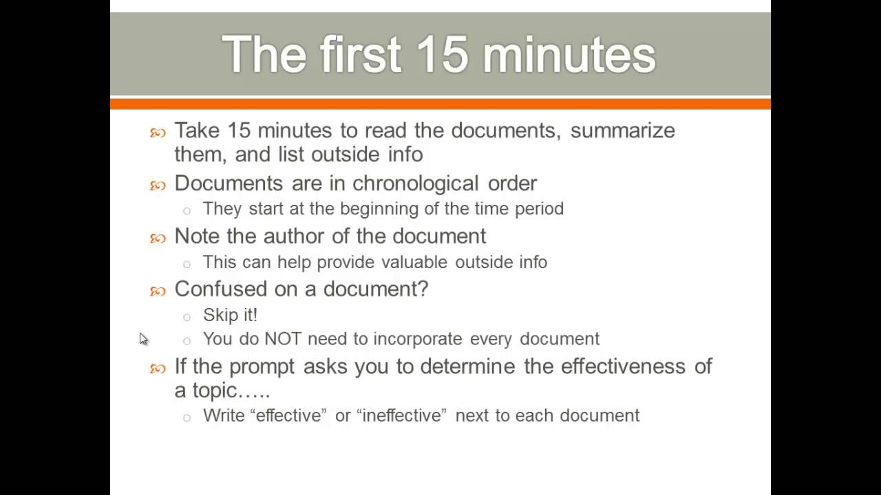 steps to writing a dbq essay
