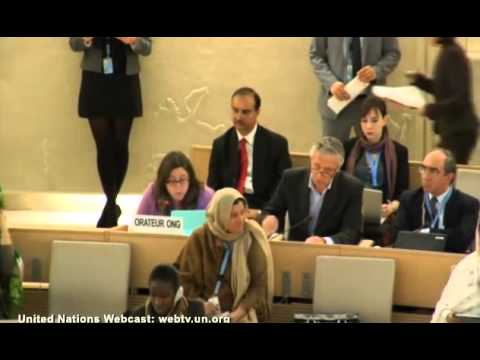 Anne Herzberg at UN HRC, Arab Women's Rights, March 24, 2014