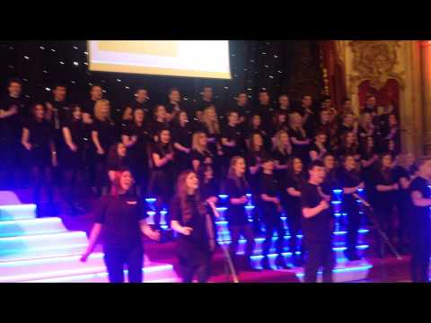 The B&FC Choir, made up of BA (Hons) Musical Theatre students, were invited to perform at the iconic Blackpool Tower's 120th birthday celebration. Here's their climax to 'Let The Sunshine In' from the musical Hair.