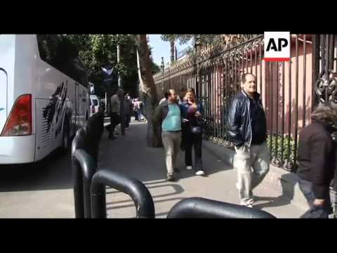 Egyptian museum in midst of the protests, tourists react to situation