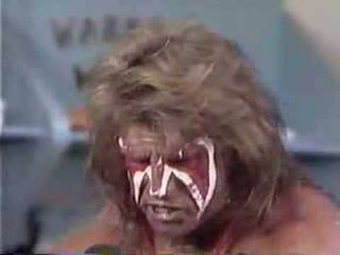ultimate warrior goes nuts on mean gene Video
