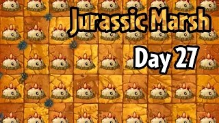 Plants vs Zombies 2 - Jurassic Marsh Day 27 Replay: Another Strategy