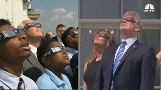Trump, Pence View Solar Eclipse from Washington, D.C.