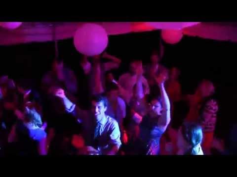 Wedding DJ Tent Lighting and Dancing