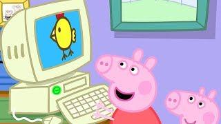 Peppa Pig Full Episodes - Grandpa Pig's Computer - Cartoons for Children