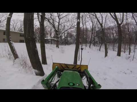 John Deere 3038e Tractor & 7' Curtis Snow Plow