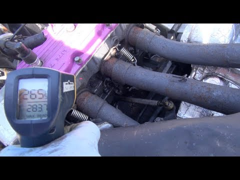 265 degree Insane overheat test of a snowmobile engine. Evans Waterless coolant testing.