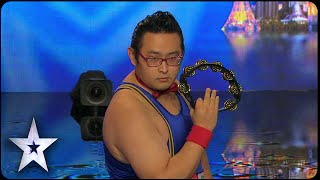 Gonzo: Asia's First Tambourine Master   Asia's Got Talent 2015 Episode 1