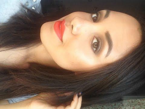 Maquillaje de verano para la NOCHE | Labios Naranja
