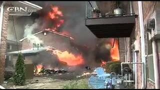 PLANE CRASHES into an old people's home, but all 84 residents UNHARMED!!! Watch this MIRACLE!!!