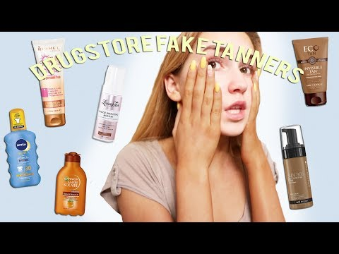 FINDING THE BEST DRUGSTORE FAKE TANNER!!