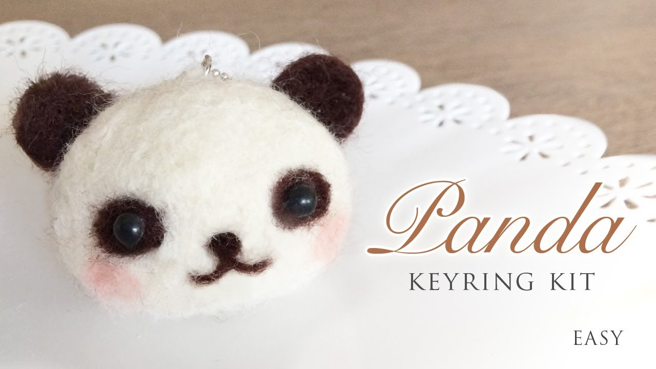 Panda Keyring Kit Needle Felt Tutorial With Asmr Youtube