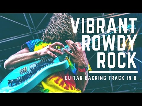 Rowdy Hard Rock | Guitar Backing Track In G#