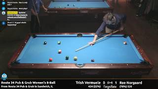 Trish Vermuele vs Rae Norgaard - Women's 8-Ball - Route 34 Pub and Grub