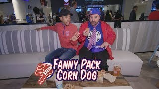 Kalen and Producer Matt Try Concession Food at an L.A. Clippers Game