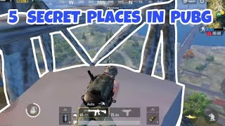 Best🔥🔥 5 HIDDEN PLACES IN⚡ PUBG⚡ MOBILE 0.7.0🔥🔥by TECHLEGENDS YT..new tricks 2018