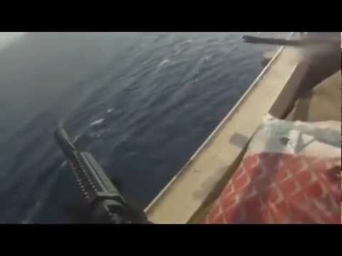 Private Security Heros Fire Machine Guns on Somali Pirates trying to board ship