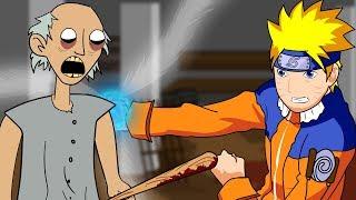 GRANNY THE HORROR GAME ANIMATION #3 : NARUTO Vs Scary Granny