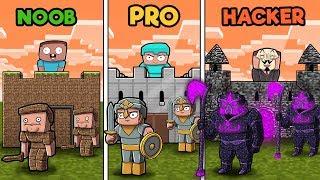 Minecraft - NOOB vs PRO vs HACKER - CASTLE WARS in minecraft!
